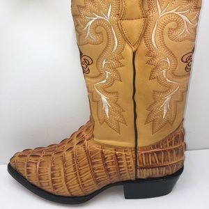 Men's Cowboy alligator embossed printed boots